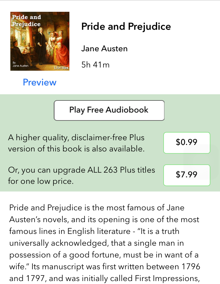 Audiobooks Jane